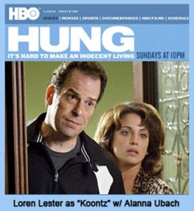 Loren Lester as Howard Koontz, recurring on HBO's HUNG