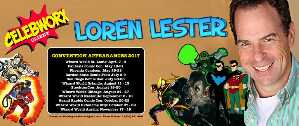 Loren Lester convention appearances 2017